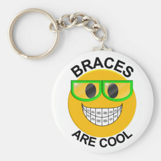 Braces Are Cool Dentist Keychain