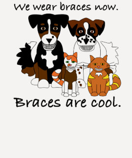 Braces are cool t-shirt
