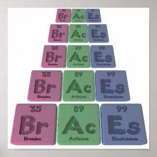 Braces-Br-Ac-Es-Bromine-Actinium-Einsteinium.png Posters