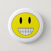 """""""Braces Happy Face"""" Button"""
