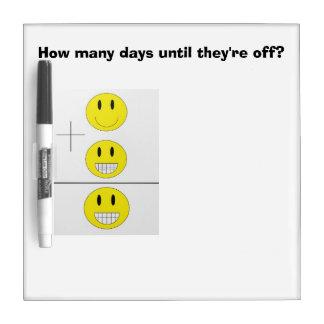 """Braces Off!"" Countdown Dry Erase Board"