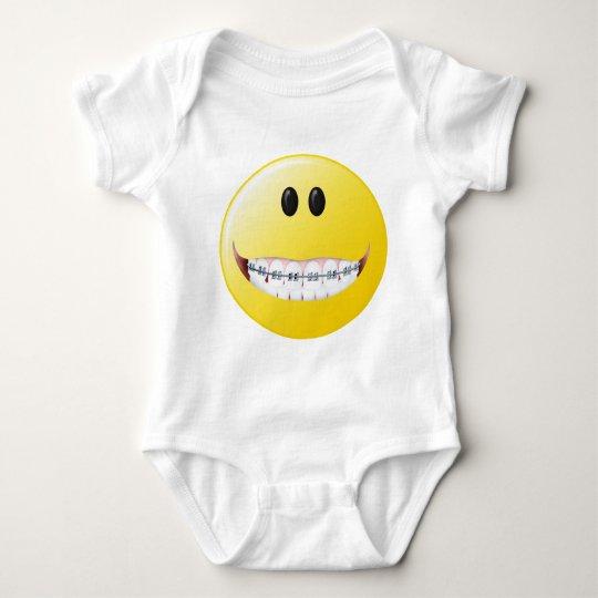 Braces Smiley Face Baby Bodysuit