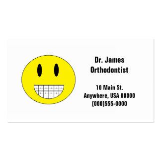 """Braces Smiley Face"" Business Cards"