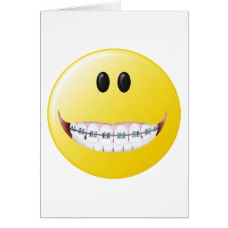 Braces Smiley Face Card