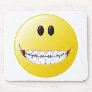 Braces Smiley Face Mouse Pad