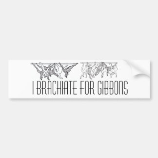 brachiating gibbons, brachiating gibbons (3), I... Bumper Sticker