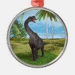 Brachiosaurus del dinosaurio ornamentos de navidad