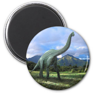 Brachiosaurus Dinosaur 2 Inch Round Magnet