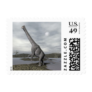 Brachiosaurus dinosaur - 3D render Postage