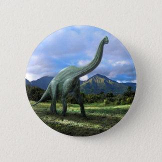 Brachiosaurus Dinosaur Button