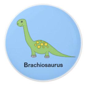 Brachiosaurus Dinosaur Ceramic Knob