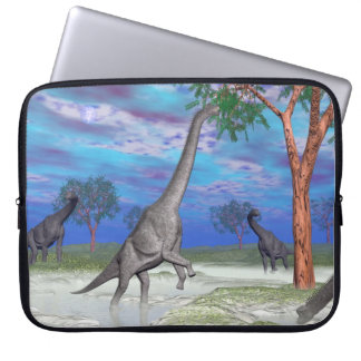 Brachiosaurus dinosaur eating - 3D render Laptop Sleeve