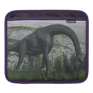 Brachiosaurus dinosaur eating fern - 3D render Sleeve For iPads