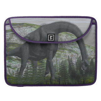 Brachiosaurus dinosaur eating fern - 3D render Sleeve For MacBook Pro