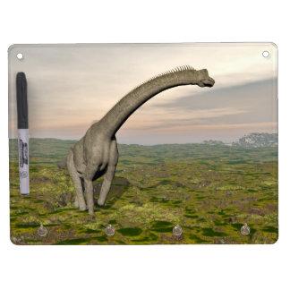 Brachiosaurus dinosaur walking - 3D render Dry Erase Board With Keychain Holder