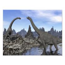 Brachiosaurus dinosaurs - 3D render Photo Print