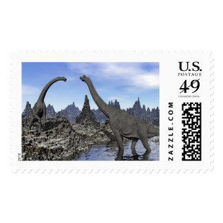 Brachiosaurus dinosaurs - 3D render Postage
