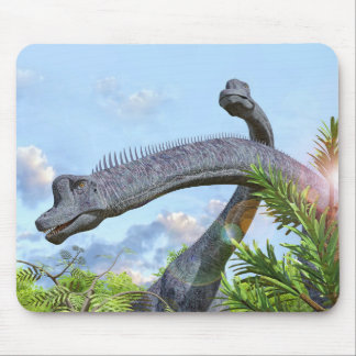 Brachiosaurus Dinosaurs in a Prehistoric Forest Mouse Pad