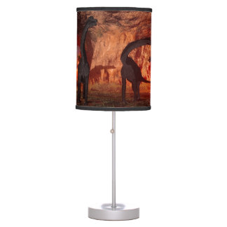 Brachiosaurus disappear in a cave table lamp