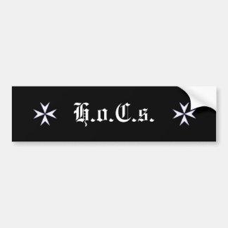 Brackcross-201x203, Brackcross-201x203, H.o.C.s. Bumper Sticker