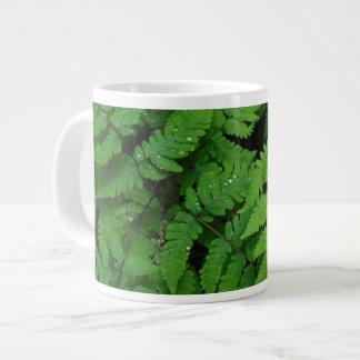 Bracken fern with rain drops, Washington State Large Coffee Mug