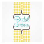 Bracket Band in Yellow Bridal Personalized Invitation