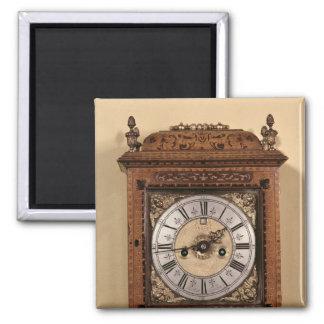 Bracket clock, c.1700 2 inch square magnet