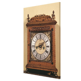Bracket clock, c.1700 canvas print