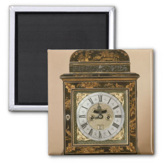 Bracket clock, movement by James Boyce, c.1705 2 Inch Square Magnet