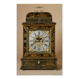 Bracket clock, movement by James Boyce, c.1705 Poster
