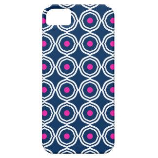 Bracket Dots Hot Pink & Navy iPhone 5 Case
