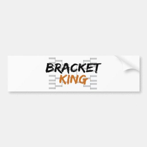 Bracket King College Basketball Bumper Sticker