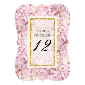 Bracket Reception Table Number Elegant Floral Gold