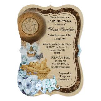 Bracket Vintage Baby Boy Shower Invitation