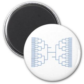 bracketology blue 2 inch round magnet