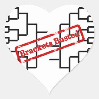 Bracketology - Brackets Busted Heart Sticker