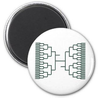bracketology green 2 inch round magnet