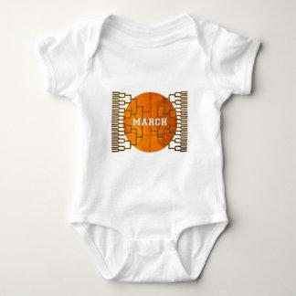 Bracketology March Basketball Awesomeness Baby Bodysuit