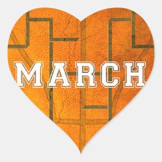 Bracketology March Basketball Awesomeness Heart Sticker