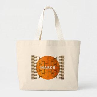 Bracketology March Basketball Awesomeness Large Tote Bag
