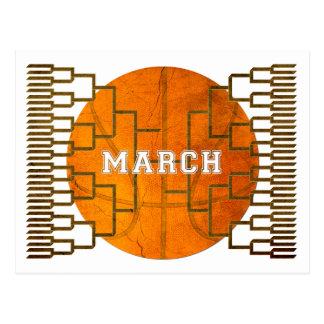 Bracketology March Basketball Awesomeness Postcard