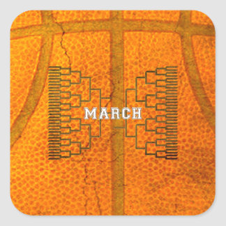 Bracketology March Basketball Tournament Square Sticker