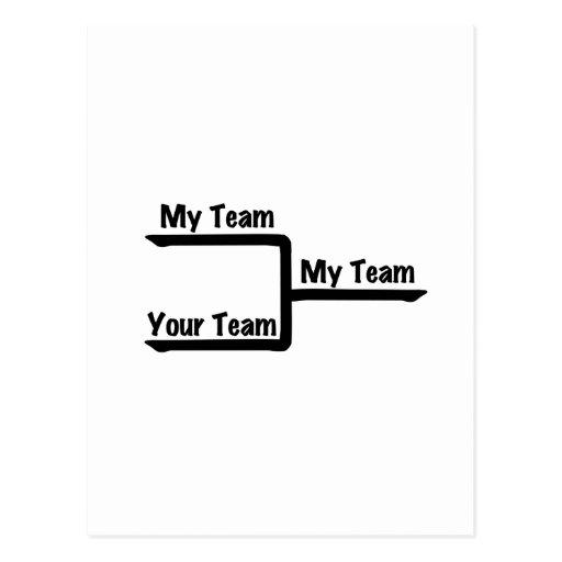 Bracketology - mi equipo contra su equipo tarjeta postal