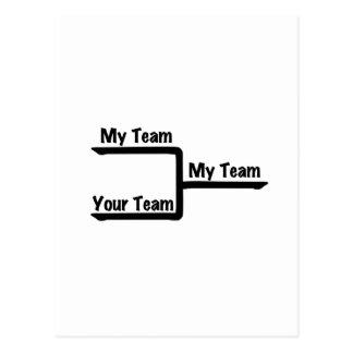 Bracketology - My Team vs Your Team Postcard