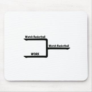 bracketology watch basketball vs work mouse pad