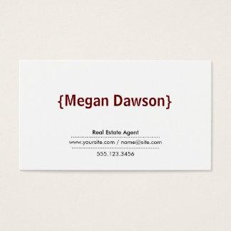 Brackets Crimson Red Business Card