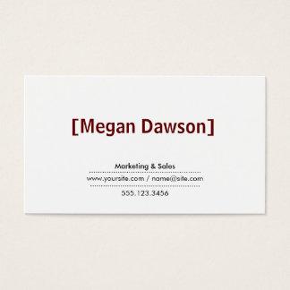 Brackets Crimson Red (variation 2) Business Card