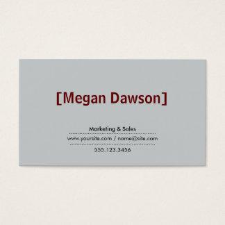 Brackets Crimson Red (variation 2) grey background Business Card