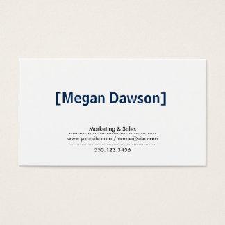 Brackets (deep blue) business card