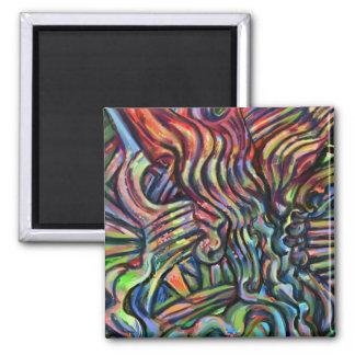 """Brackets"" digital art painting 2 Inch Square Magnet"